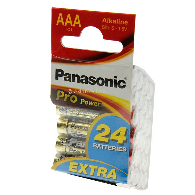 24er Box Panasonic LR03PPG Pro Power Micro AAA Batteries
